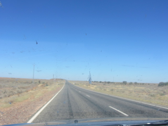 A picture of the road outside of Broken Hill, in New South Wales, heading towards Port Augusta in South Australia.