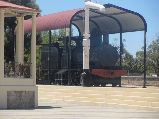 A picture of an old train at Petersborough, South Australia.
