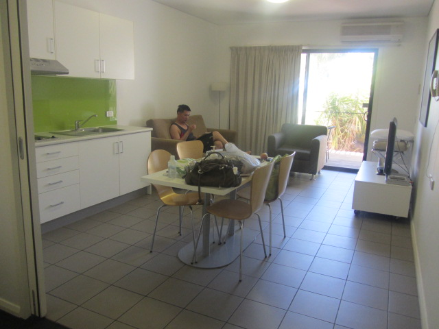 A picture of our room at the Majestic Oasis Hotel in Port Augusta, South Australia.