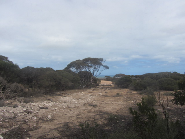 A picture of  the view from our room in Eucla, Western Australia.