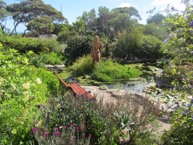 A picture of the gardens at our hotel in Eucla, Western Australia.