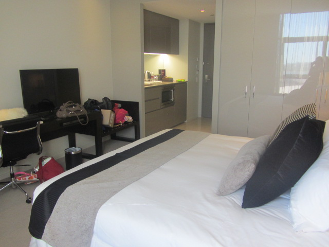 Home sweet home. A picture of our apartment at the Fraser Suites in Perth.