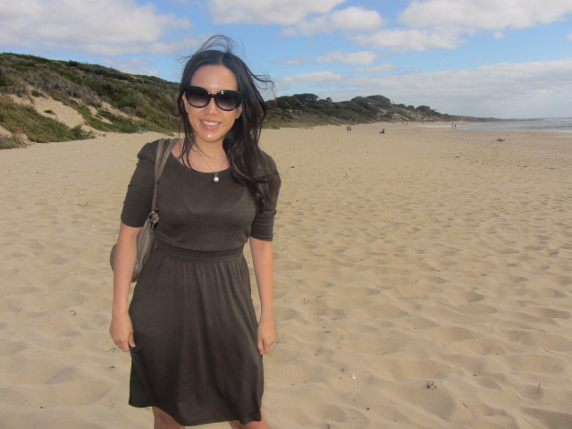 Bad hair due to the strong winds at Yallingup beach. Can't complain other than that.