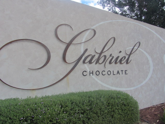A picture of Gabriel's chocolates in Margaret River, Western Australia.