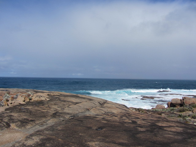 It feels like standing at the edge of the world. A picture of where the Southern Ocean meets the Indian Ocean at Cape Leeuwin in Western Australia.