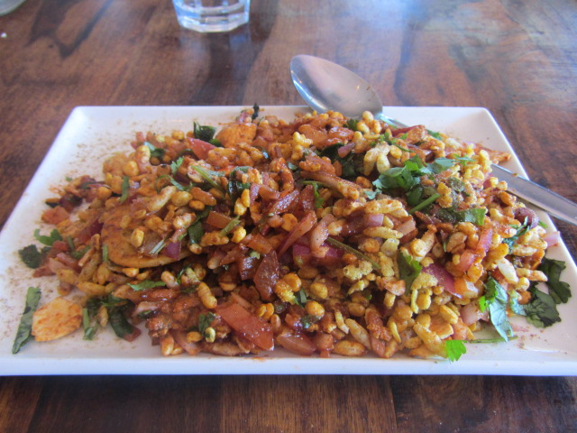 A picture of Masala Chaat at Bombay Dhaba in Brisbane.