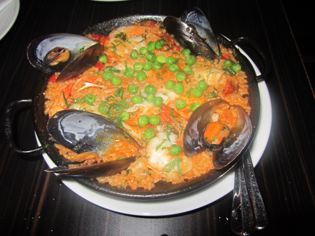 A picture of seafood paella at Granada Tapas Bar in South Brisbane.