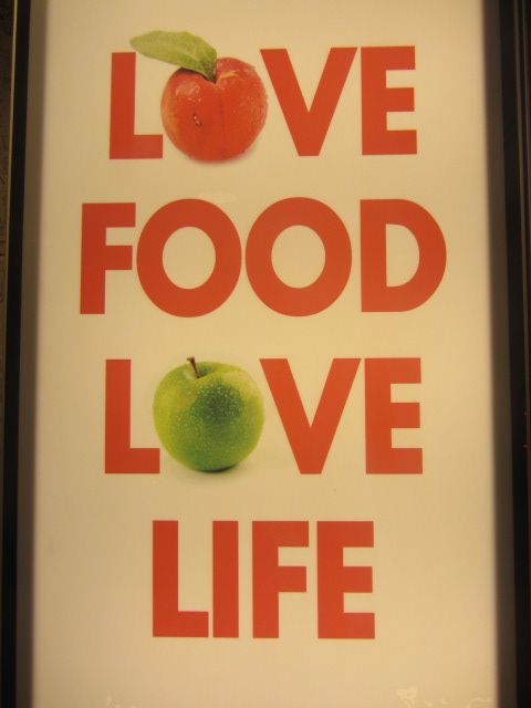 My personal philosophy: Love Food, Love Life. A picture of signboard I saw in a hawker centre in Penang, Malaysia.