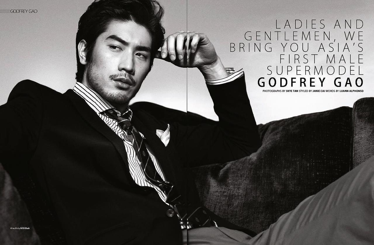 A picture of Godfrey Gao, the first Asian Male Supermodel.
