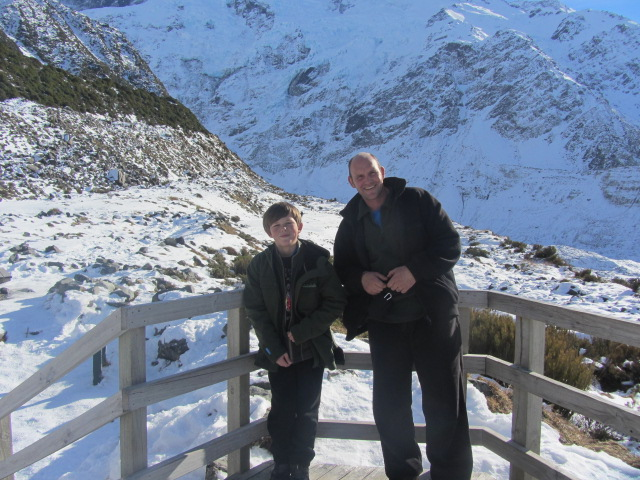 A picture of two cattle farmers we had a chat with at Kea Point on Mt Cook, New Zealand.