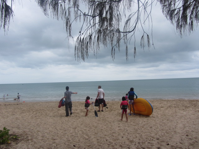 A picture of us at the beach in Hervey Bay, Queensland.